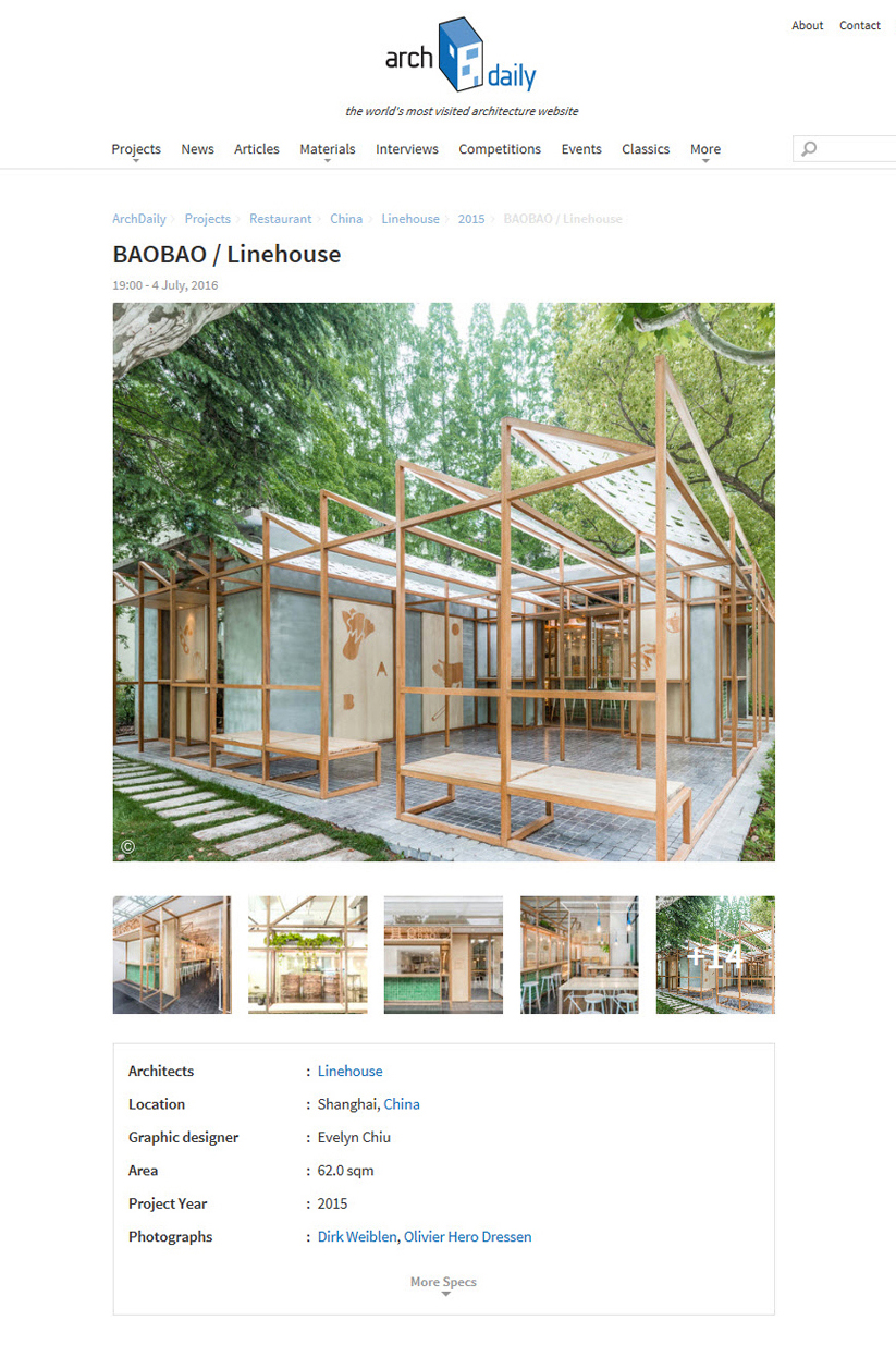 Archdaily, Baobao, July 2016